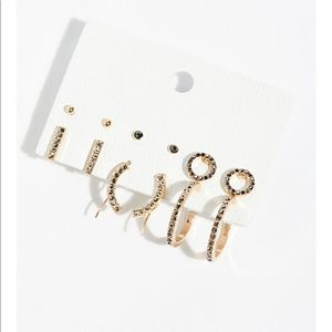 Free people rhinestone hoop earrings